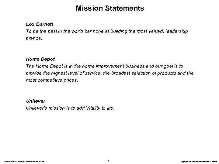 Mission Statements Leo Burnett To be the best in the world bar none at