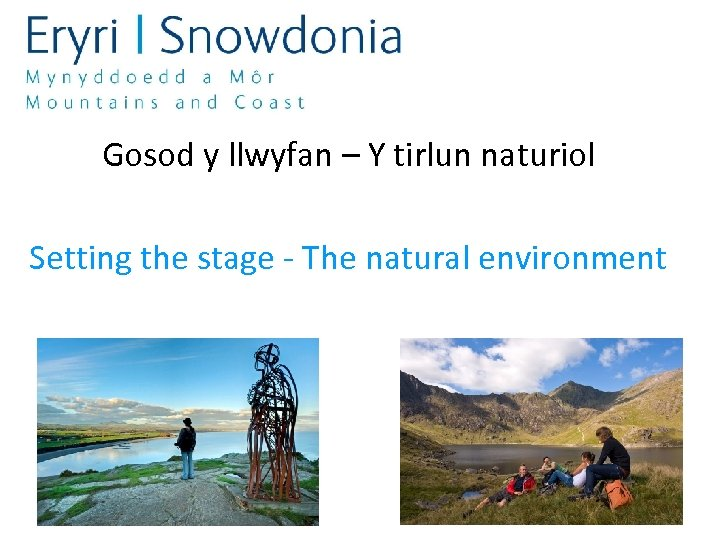 Gosod y llwyfan – Y tirlun naturiol Setting the stage - The natural environment