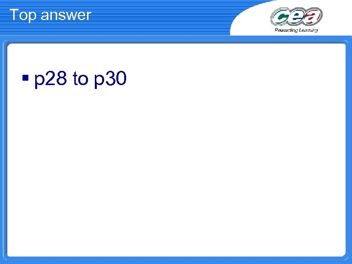 Top answer § p 28 to p 30