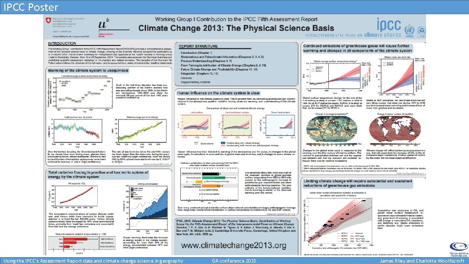 IPCC Poster Using the IPCC's Assessment Report data and climate change science in geography