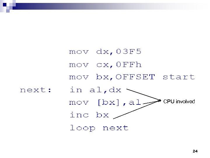 CPU involved 24