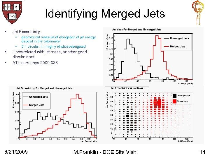 Identifying Merged Jets • Jet Eccentricity – – • • geometrical measure of elongation