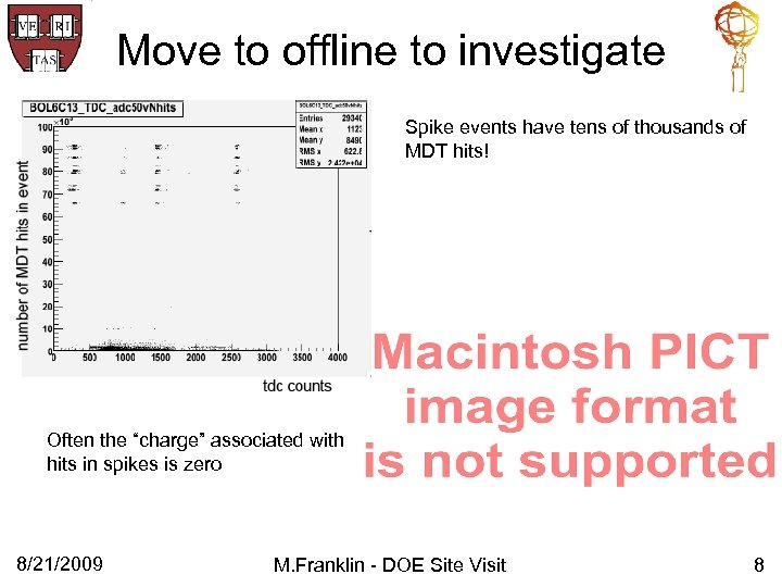 Move to offline to investigate Spike events have tens of thousands of MDT hits!
