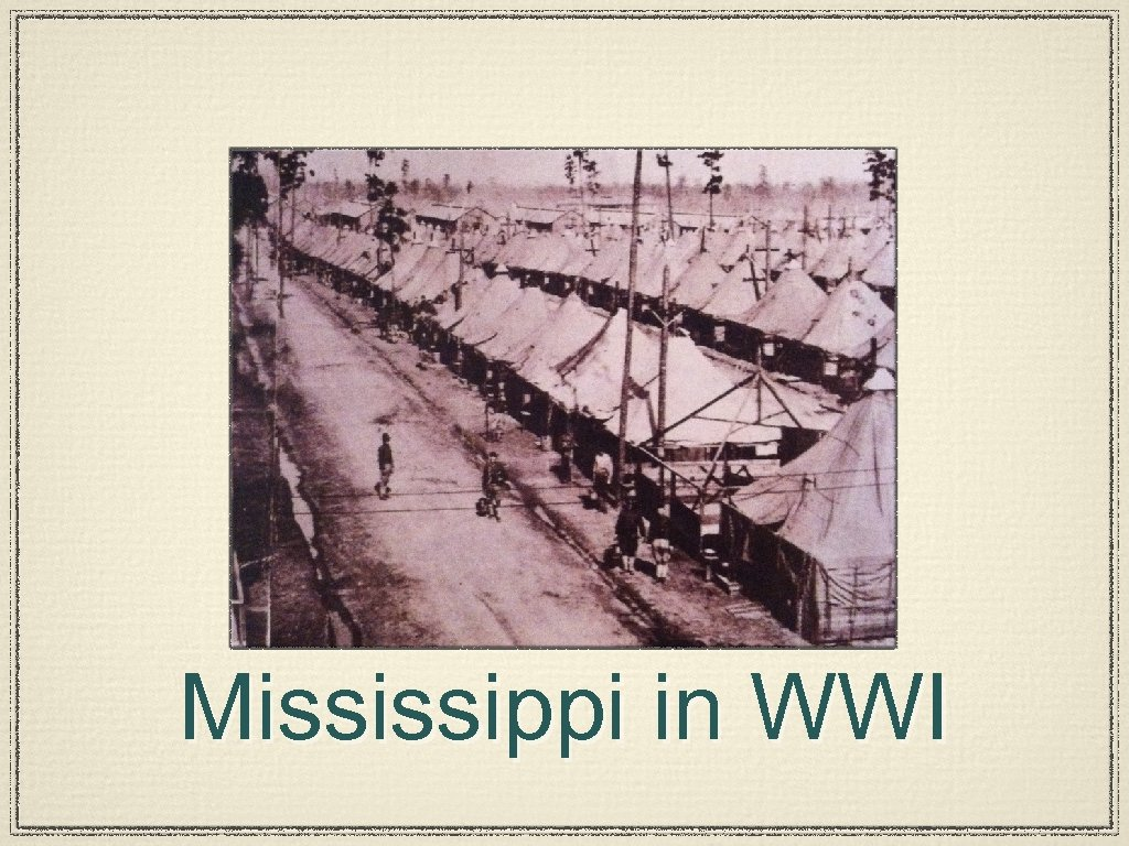 Mississippi in WWI