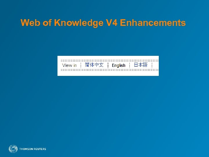 Web of Knowledge V 4 Enhancements
