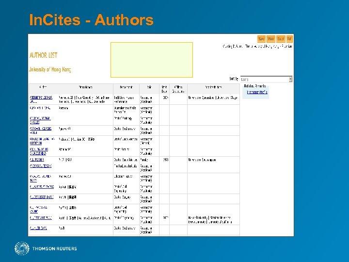 In. Cites - Authors