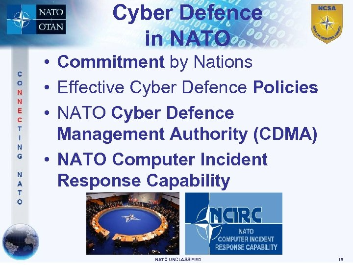 Cyber Defence in NATO • Commitment by Nations • Effective Cyber Defence Policies •