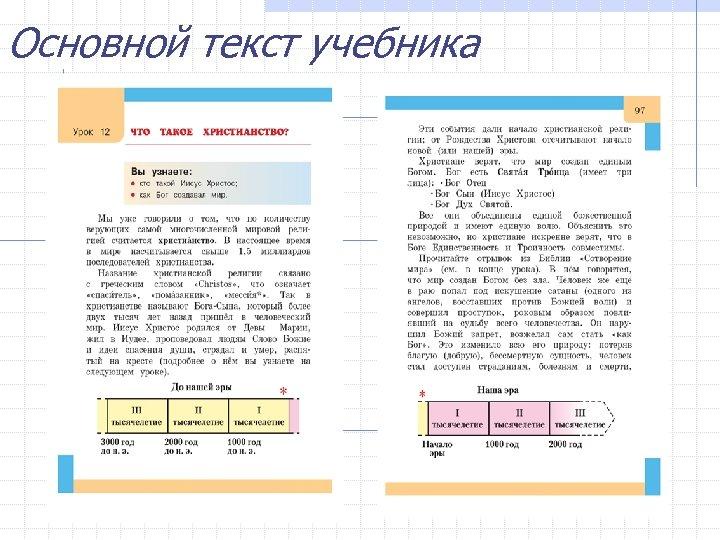 Основной текст учебника