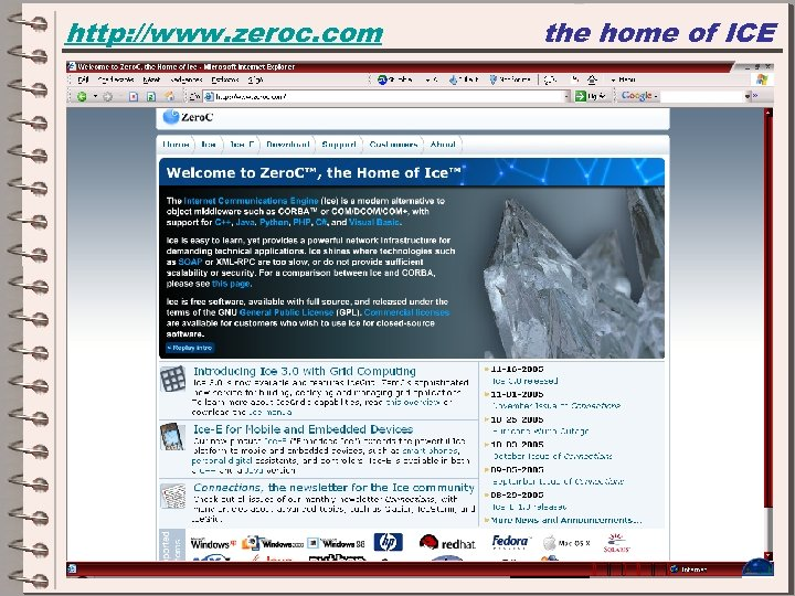 http: //www. zeroc. com the home of ICE