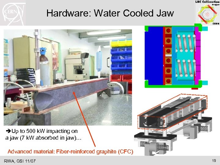 Hardware: Water Cooled Jaw Up to 500 k. W impacting on a jaw (7