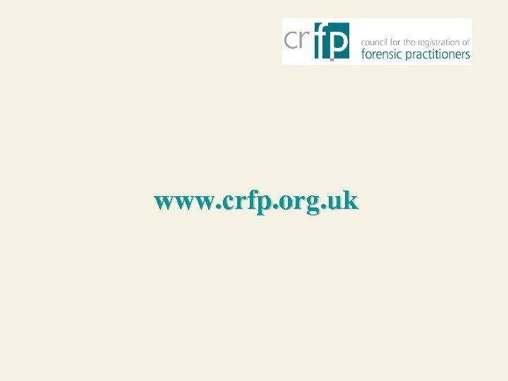 www. crfp. org. uk