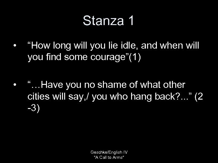 "Stanza 1 • ""How long will you lie idle, and when will you find"