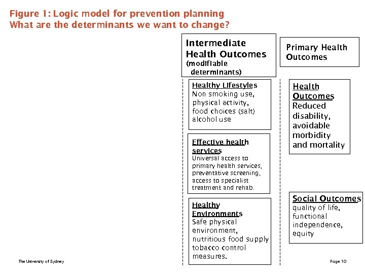 Figure 1: Logic model for prevention planning What are the determinants we want to
