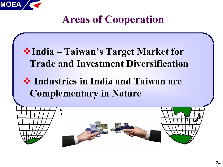 MOEA Areas of Cooperation v. India – Taiwan's Target Market for Trade and Investment