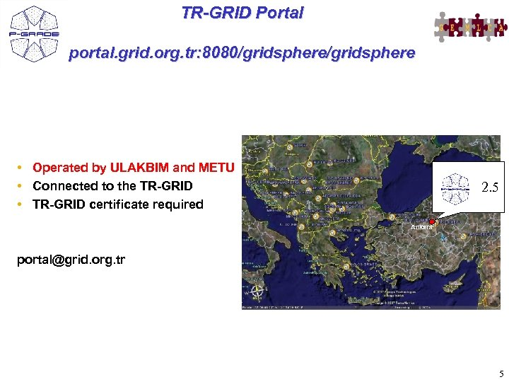 TR-GRID Portal portal. grid. org. tr: 8080/gridsphere • Operated by ULAKBIM and METU •