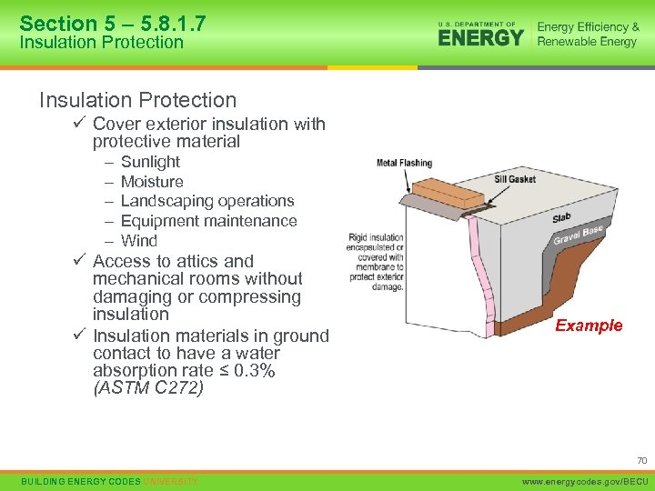 Section 5 – 5. 8. 1. 7 Insulation Protection ü Cover exterior insulation with