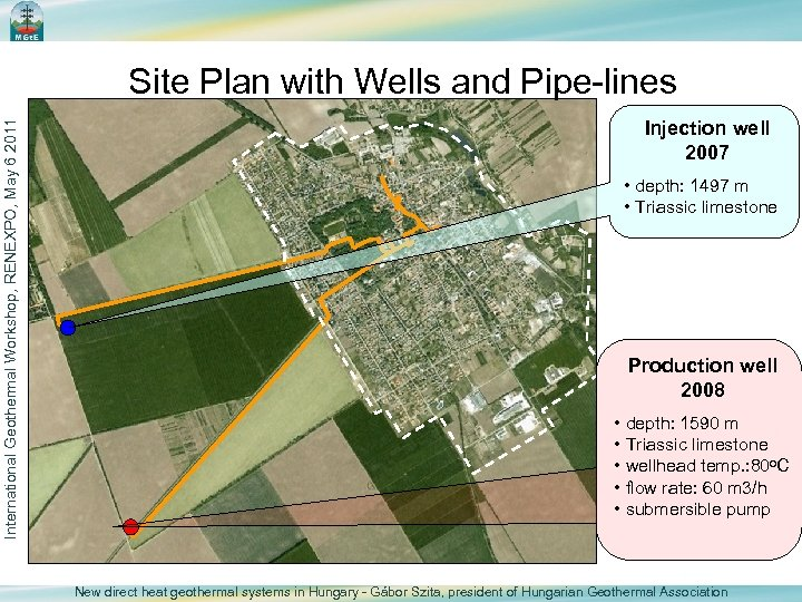 International Geothermal Workshop, RENEXPO, May 6 2011 Site Plan with Wells and Pipe-lines Injection