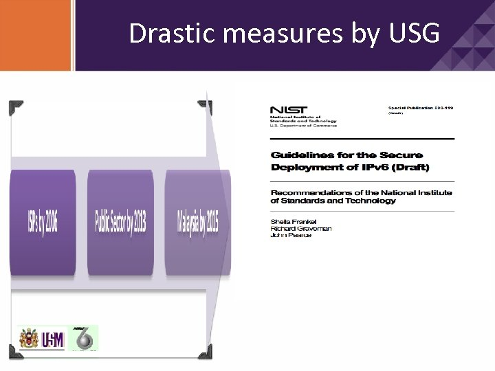 Drastic measures by USG Release Date: February 2010 The purpose of Guidelines for the