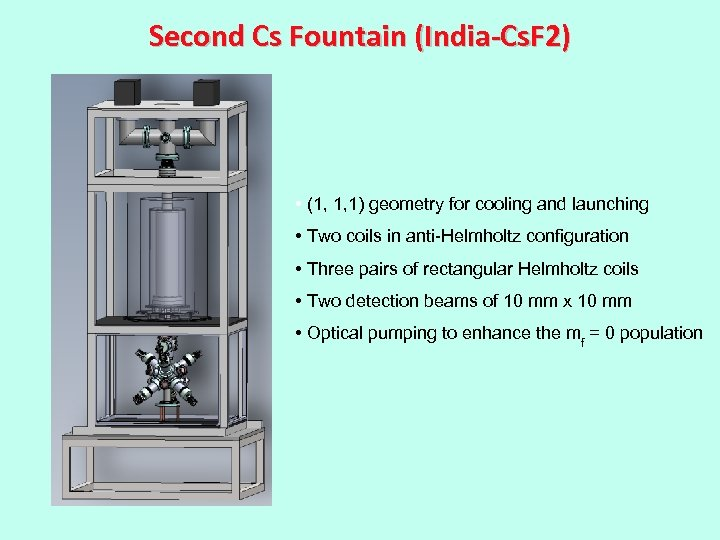 Second Cs Fountain (India-Cs. F 2) • (1, 1, 1) geometry for cooling and