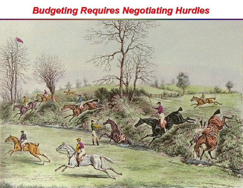 Budgeting Requires Negotiating Hurdles 3