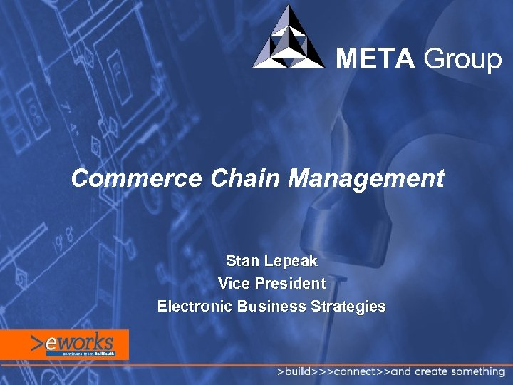 META Group Commerce Chain Management Stan Lepeak Vice President Electronic Business Strategies