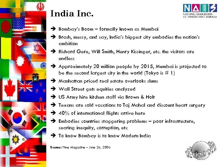 India Inc. è Bombay's Boom – formally known as Mumbai è Brash, messy, and