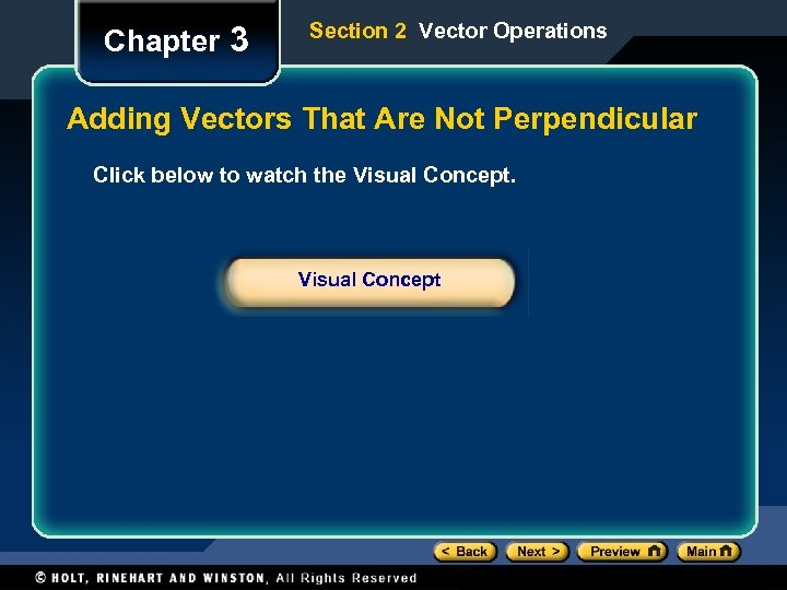 Chapter 3 Section 2 Vector Operations Adding Vectors That Are Not Perpendicular Click below