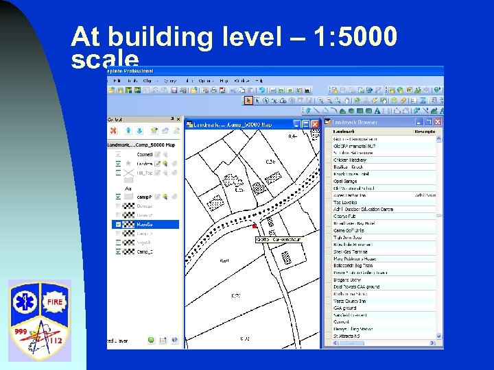 At building level – 1: 5000 scale