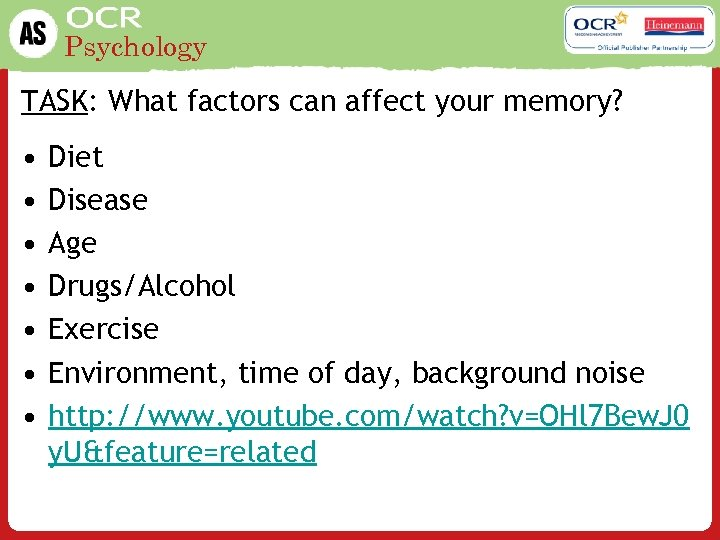 Psychology What is cognitive psychology LO To describe