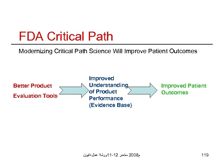 FDA Critical Path Modernizing Critical Path Science Will Improve Patient Outcomes Better Product Evaluation