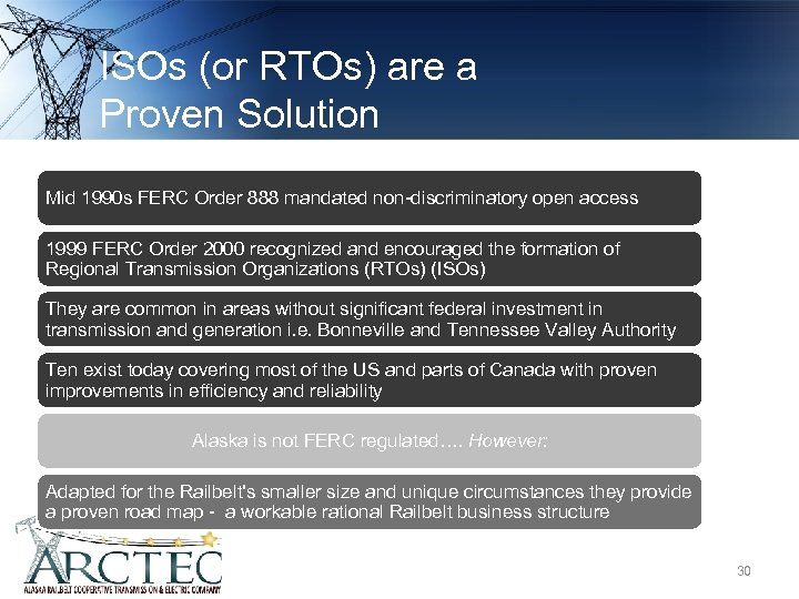 ISOs (or RTOs) are a Proven Solution Mid 1990 s FERC Order 888 mandated
