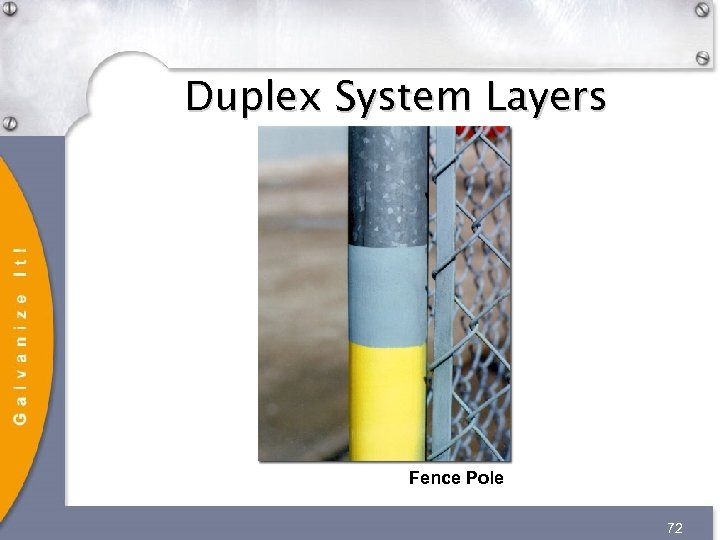 Duplex System Layers Fence Pole 72