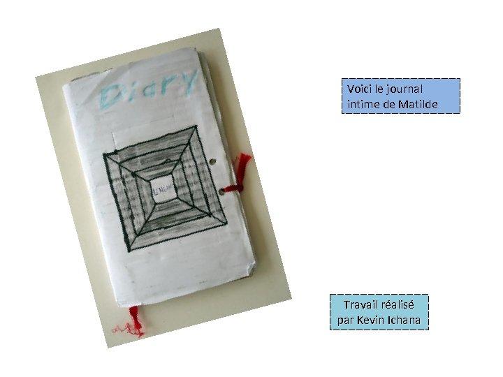 Voici le journal intime de Matilde Travail réalisé par Kevin Ichana