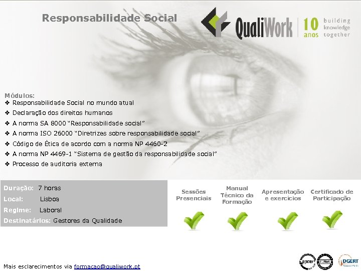 Responsabilidade Social Módulos: v Responsabilidade Social no mundo atual v Declaração dos direitos humanos