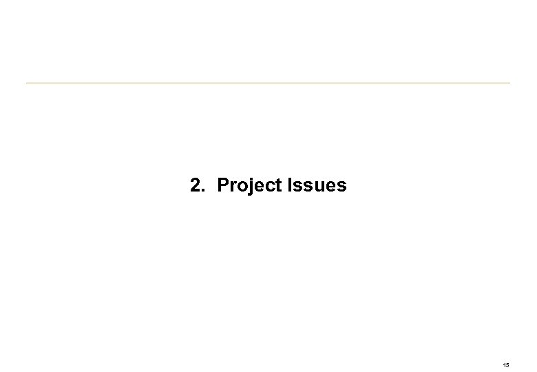 2. Project Issues 13