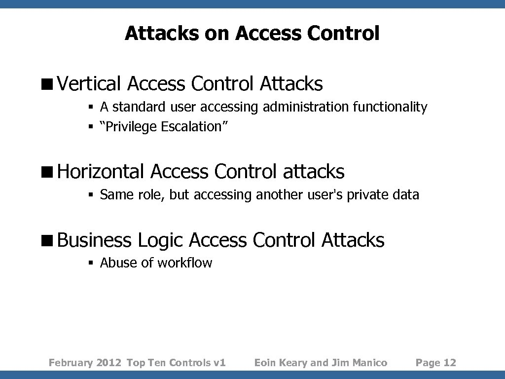 Attacks on Access Control <Vertical Access Control Attacks § A standard user accessing administration
