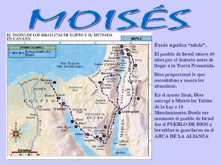 """Éxodo significa """"salida"""". El pueblo de Israel estuvo 40 años por el desierto antes"""
