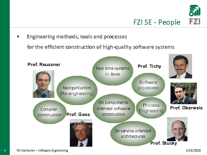 FZI SE - People § Engineering methods, tools and processes for the efficient construction
