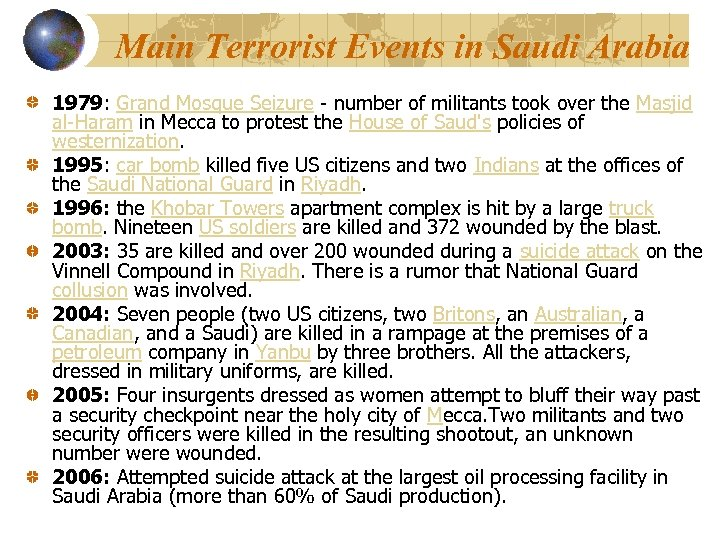 Main Terrorist Events in Saudi Arabia 1979: Grand Mosque Seizure - number of militants