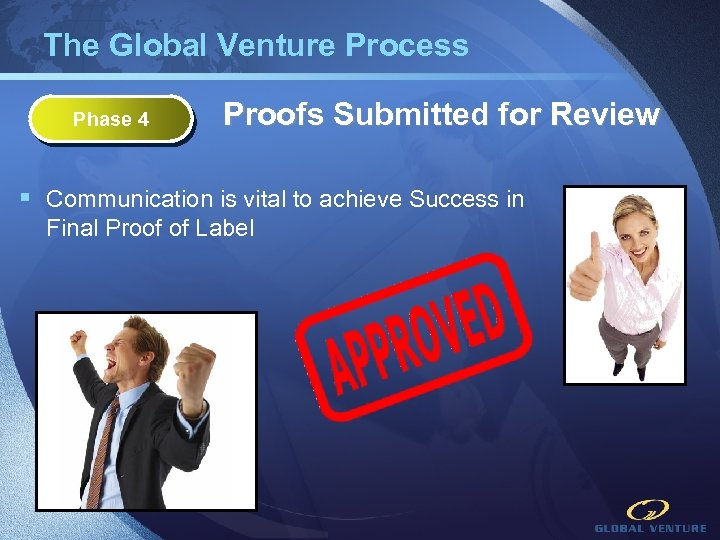 The Global Venture Process Phase 4 Proofs Submitted for Review § Communication is vital