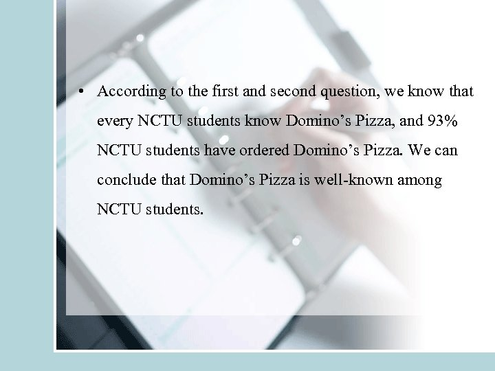 • According to the first and second question, we know that every NCTU
