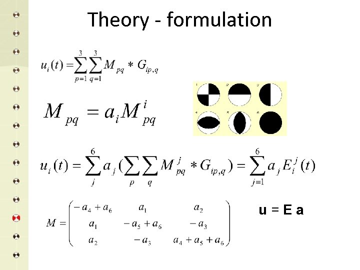 Theory - formulation u=Ea
