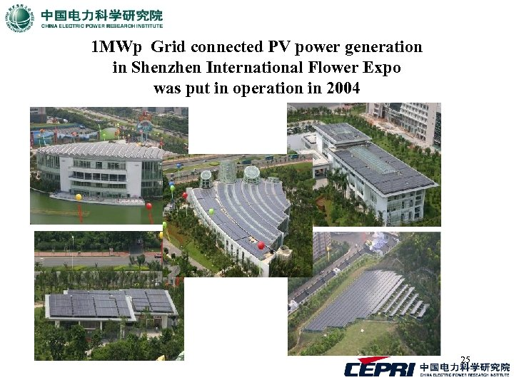 1 MWp Grid connected PV power generation in Shenzhen International Flower Expo was put