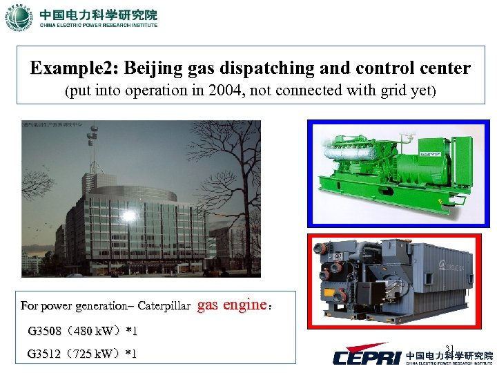 Example 2: Beijing gas dispatching and control center (put into operation in 2004, not