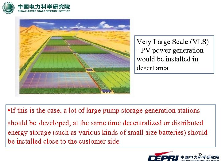 Very Large Scale (VLS) - PV power generation would be installed in desert area