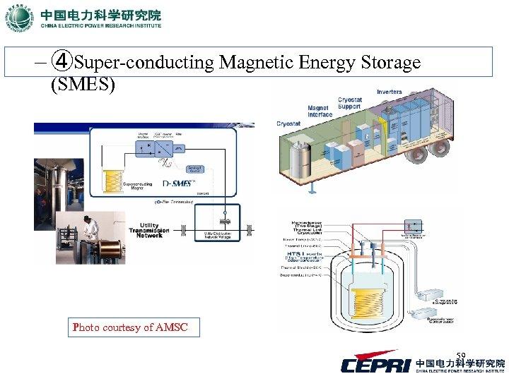 – ④Super-conducting Magnetic Energy Storage (SMES) Photo courtesy of AMSC 59