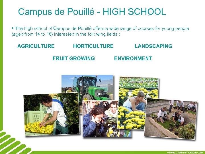 Campus de Pouillé - HIGH SCHOOL • The high school of Campus de Pouillé