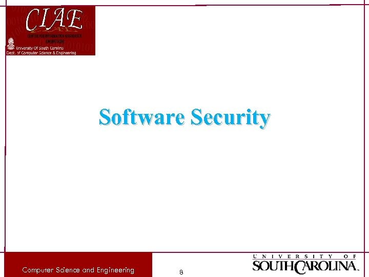 Software Security Computer Science and Engineering 8
