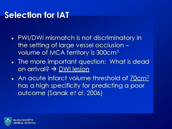 Selection for IAT · · · PWI/DWI mismatch is not discriminatory in the setting