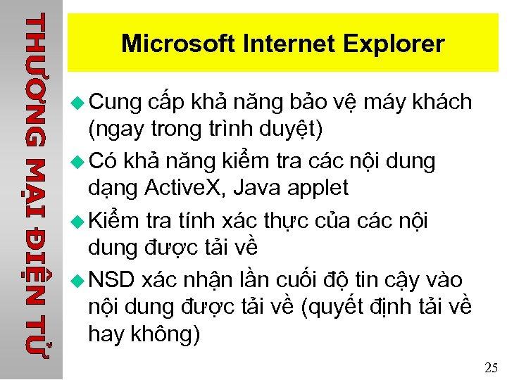 Microsoft Internet Explorer u Cung cấp khả năng bảo vệ máy khách (ngay trong